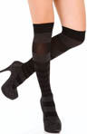 DKNY Hosiery Pattern Stripe Knee Socks 0B773