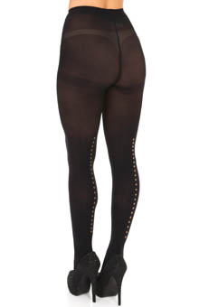 DKNY Hosiery Embellished Backseam Tight 0B774