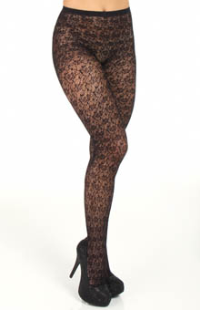 DKNY Hosiery Lace Tight 0B775