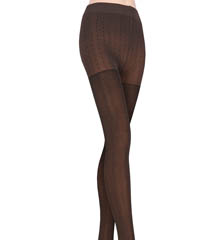 DKNY Hosiery Tweed Herringbone Tights 0B872