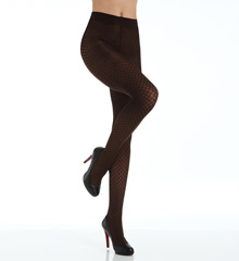 DKNY Hosiery Dot Jacquard Tight 0B913