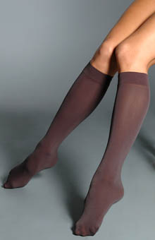 DKNY Opaque Microfiber Knee Highs