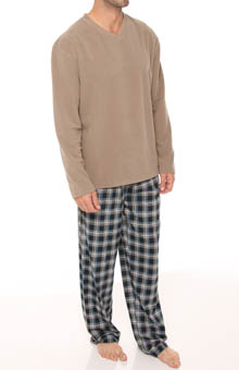 Lounge Set Fleece V-Neck With Jersey Pants