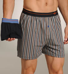 2 Pack Stretch Jersey Knit Hanging Boxers