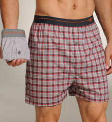 2 Pack Woven Stretch Poplin Hanging Boxers