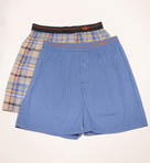 Woven Stretch Poplin Hanging Boxers - 2 Pack