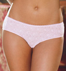 Stretch Lace Low Rise Crotchless Panty Image