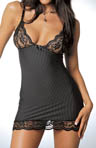 Dreamgirl Pinstripe Chemise With Matching Thong 3328