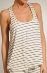 Eberjey Coastal Stripes Racerback Tank T1100R