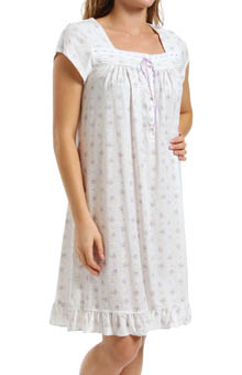 Eileen West Flower Box Cap Sleeve Short Gown