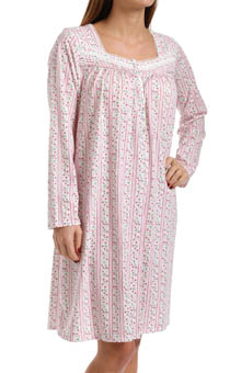 Eileen West Vintage Bloom Long Sleeve Short Nightgown 5014520