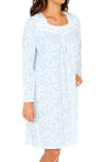 Eileen West Festival Of Lights Long Sleeve Short Nightgown 5014531