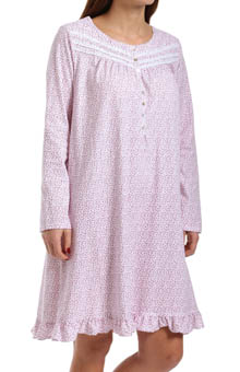 Eileen West Riviera Long Sleeve Short Nightgown