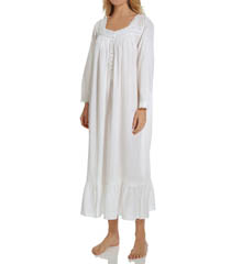 Eileen West Winter White Ballet Long Sleeve Nightgown 5015838