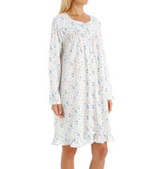 Eileen West Blueberry Long Sleeve Short Nightgown 5015845