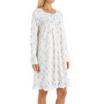 Blueberry Long Sleeve Short Nightgown Image