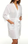 Eileen West Harbor Beauty Short Wrap Robe 5114476