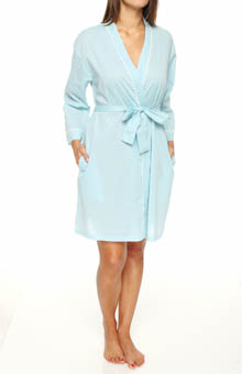 Eileen West Ocean Mist Short Wrap Robe