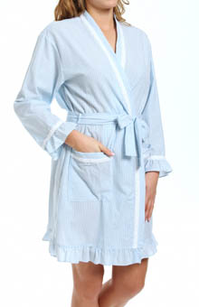 Eileen West Coastal Villa Short Wrap Robe 5114558