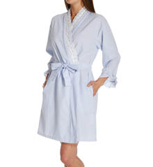 Eileen West Flower Child Seersucker Short Wrap Robe 5114574
