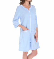 Eileen West Aurora Light French Terry Zip Front Robe 5114578