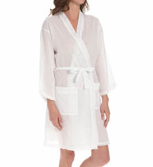 Eileen West Lucent Short Wrap Robe 5114593