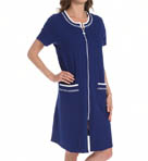 Eileen West Navy Short Zip Robe 5114600