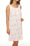 Flower Power Sleeveless Short Nightgown