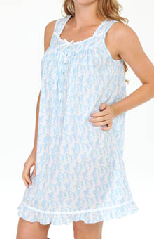 Eileen West Coastal Villa Sleeveless Short Nightgown