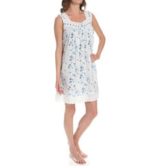 Eileen West Blue Daisy Short Nightgown 5314594