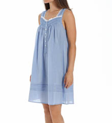 Eileen West Short Chambray Sleeveless Nightgown 5315889
