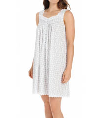 Eileen West Rosebud Short Sleeveless Jersey Nightgown 5515830