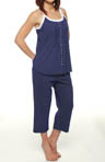 Eileen West Deep Blue Sea Sleeveless Top and Capri PJ 5714480