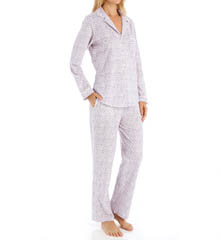 Eileen West Plum Long Sleeve PJ Set 5715844