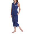 Azure Notch Collar Capri Pajama Image
