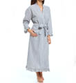 Winsome Muse Seersucker Long Wrap Robe Image