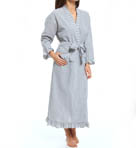 Eileen West Winsome Muse Seersucker Long Wrap Robe 5914567
