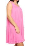 Eileen West Plus Size Radiant Spirit Sleeveless Nightgown 6014445