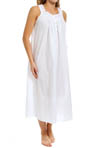 Eileen West White Lawn Sleeveless Long Nightgown 61324
