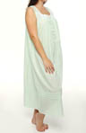 Eileen West Plus Size Morning Dew Sleeveless Ballet Nightgown 6214455