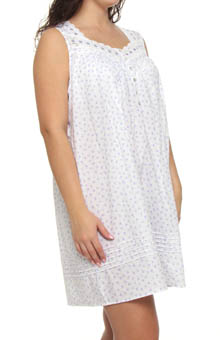 Plus Size Beautiful Heart Sleeveless Nightgown