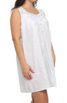 Eileen West Plus Size Beautiful Heart Sleeveless Nightgown 6314450