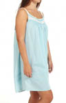Ocean Mist Plus Size Sleeveless Nightgown