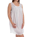 Eileen West Solid Plus Size Short Nightgown 6315885
