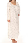 Love Letters Long Sleeve Button Front Gown
