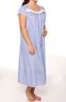 Cascade Plus Size Cap Sleeve Ballet Gown