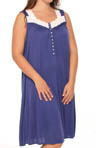 Royal Beauty Plus Size Sleeveless Nightgown