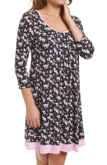 Ellen Tracy Long Sleeve Scoop Chemise 8115309