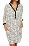 Falls For Prints Charming 3/4 Sleeve Sleepshirt
