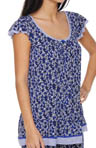 Ellen Tracy Blue Me A Kiss Short Sleeve Top 8410961